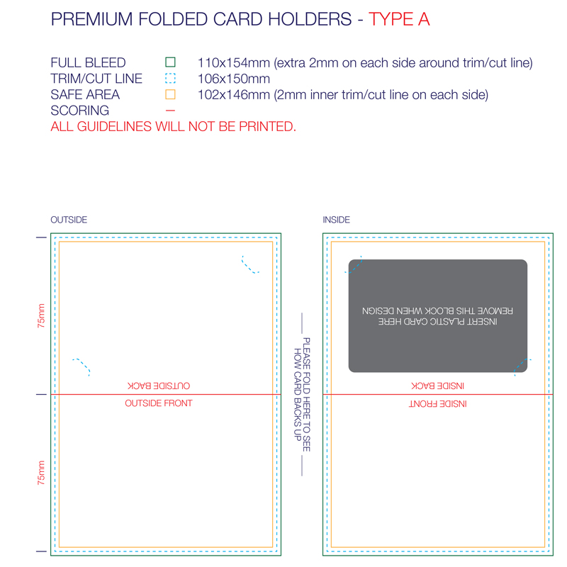 Premium Backing Card (Scored)