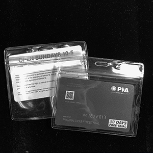 Plastic card holders - Press seal