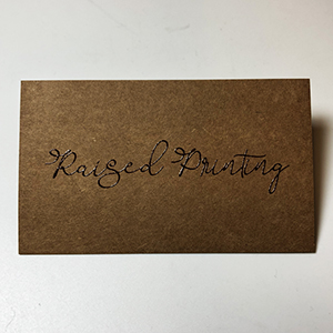 Raised Print - Kraft Paper